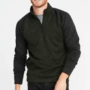 OLD NAVY MENS 1/4 ZIP PULLOVER SWEATER SMALL GREEN